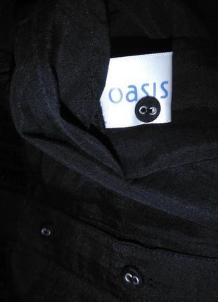 Красивая хлопковая/шелковая блузка/рубашка oasis (хлопок, шёлк)8 фото
