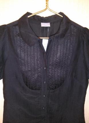 Красивая хлопковая/шелковая блузка/рубашка oasis (хлопок, шёлк)5 фото