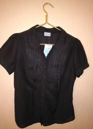 Красивая хлопковая/шелковая блузка/рубашка oasis (хлопок, шёлк)6 фото