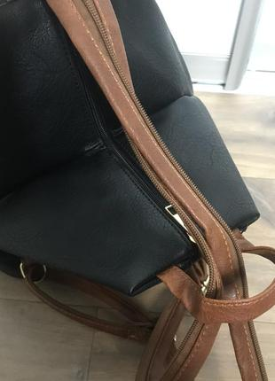 Сумка рюкзак еко шкіра5 фото