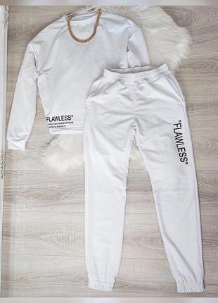 Спортивный костюм,женский костюм,белый костюм,прогулочный костюм2 фото