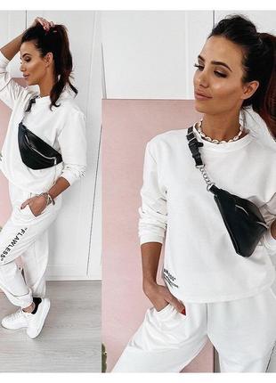 Спортивный костюм,женский костюм,белый костюм,прогулочный костюм3 фото
