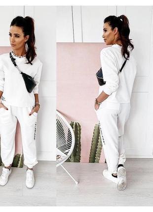 Спортивный костюм,женский костюм,белый костюм,прогулочный костюм4 фото