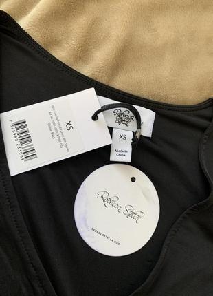 Довге плаття на запах чорного кольору rebecca stella5 фото