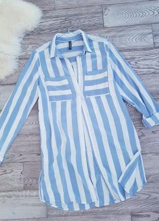Сорочка на літо/ яскрава сорочка/ стильная рубашка от h&m1 фото