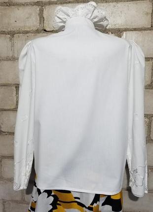 Винтаж блузон ретро прошва вышивка3 фото