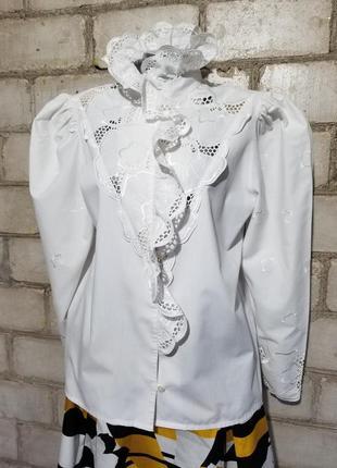 Винтаж блузон ретро прошва вышивка2 фото