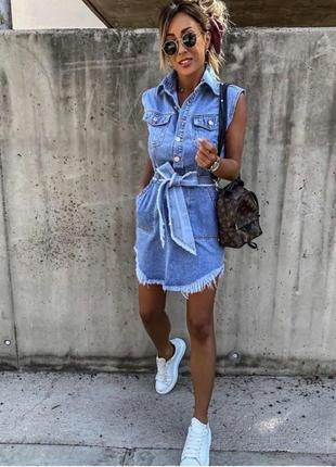 Платье джинсовое2 фото