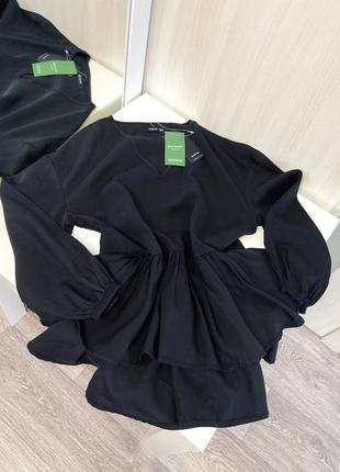 Новая стильная блуза reserved с оборкой воланами , размер хс1 фото