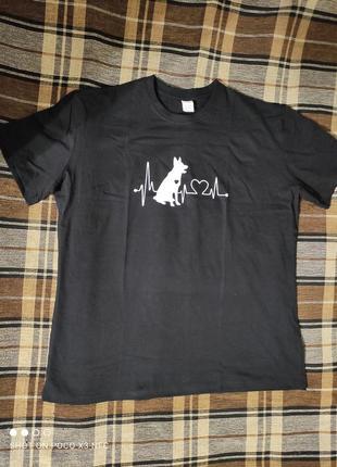 Крутая футболка большой размер пог-61 см2 фото