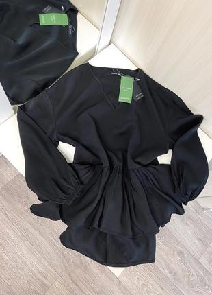 Новая стильная блуза reserved с оборкой воланами , размер хс3 фото