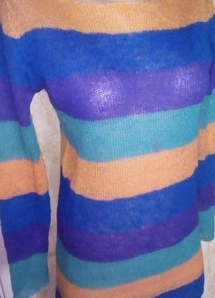 Легкий шерстяной свитерок/свитер/кофта/блузка/худи/рубашка/куртка/кардиган/гольф7 фото