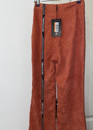 Штаны брюки кюлоты оранжевый высокая посадка морковный3 фото