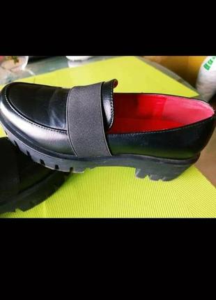 Туфли на тракторной подошве1 фото