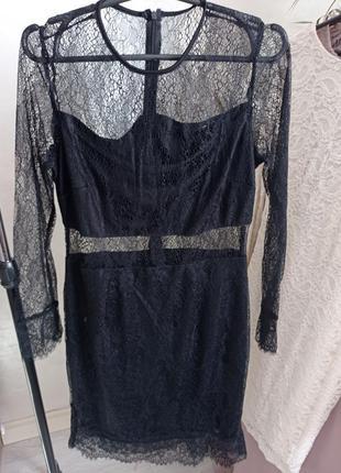 Нежное чёрное платье 36р 38р1 фото