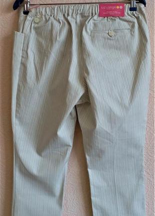 Укороченные хлопковые брюки для беременных liz lange2 фото