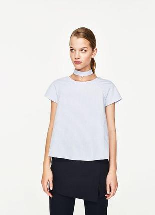 Блуза с жемчужиной zara  (р.l)1 фото