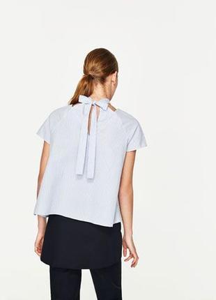 Блуза с жемчужиной zara  (р.l)2 фото