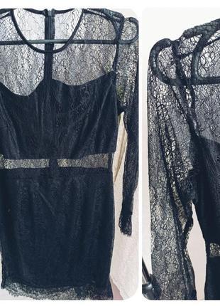 Нежное чёрное платье 36р 38р2 фото