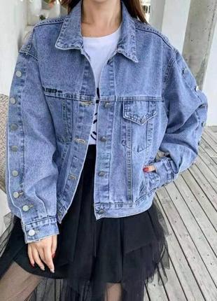 Джинсовый пиджак куртка косуха4 фото