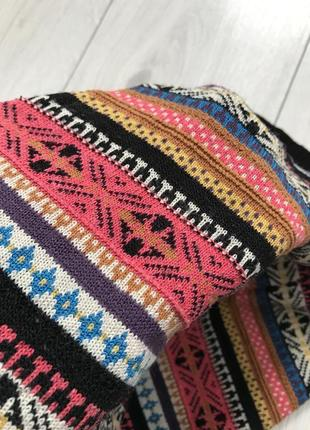 Юбка, вязанная юбка, разноцветная юбка, модная юбка, стильная юбка, зимняя юбка.7 фото