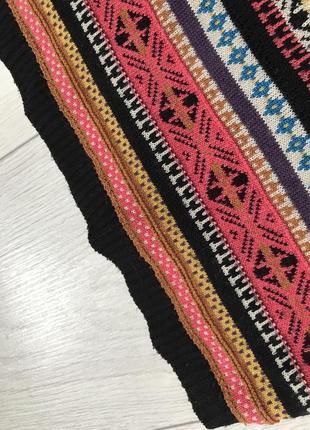Юбка, вязанная юбка, разноцветная юбка, модная юбка, стильная юбка, зимняя юбка.6 фото