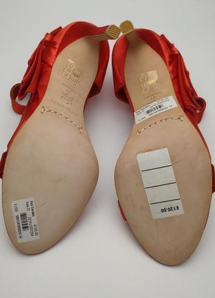 Туфли босоножки шикарные красные оригинал karen millen 372 фото