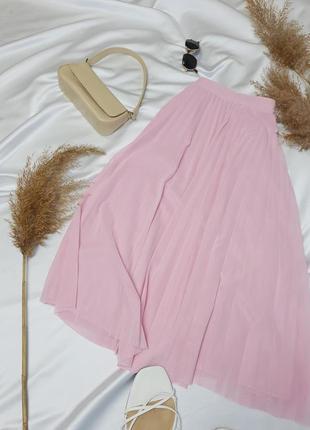 Стильна плісеровна спідничка ніжного рожевого кольору від bershka  нова!5 фото
