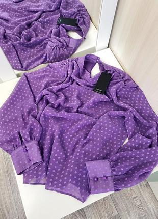 Новая шикарная сиреневая блуза от reserved , размер xs