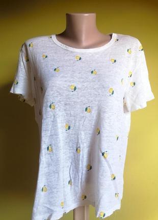 Стильна жіноча футболка hema. 100%льон.
