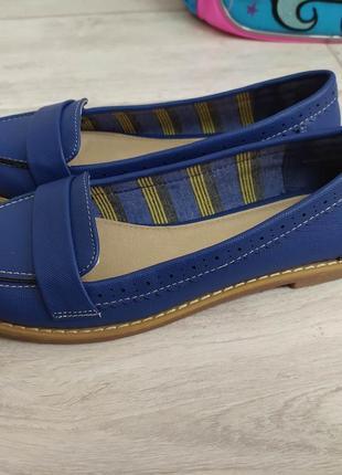 Модные/лоферы/красивого/синего/цвета/tu/р.36/23.5🛍️2 фото