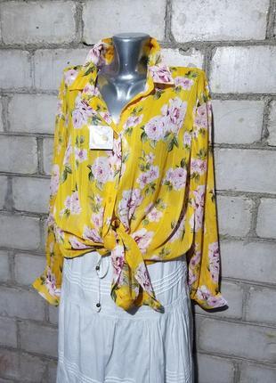 Удлиненная легкая блуза туника с блестящей нитью