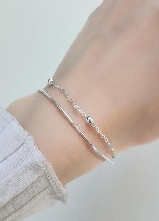 Красивый браслет с серебра. серебро 925 пробы.
