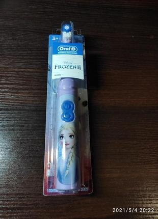 Детская зубная електрощетка oral-b frozen ельза,дитяча електрощітка