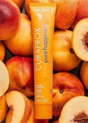 Curaprox be you pure happiness персик + абрикос, 90ml і зубна щітка ultra soft cs5460