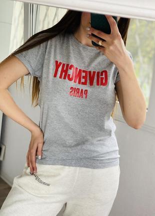 Серая меланжевая футболка с надписью primark 1+1=3