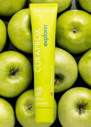 Curaprox be you explorer яблуко + алое, 90ml і зубна щітка ultra soft cs5460