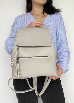 Молодіжний рюкзак сірого кольору