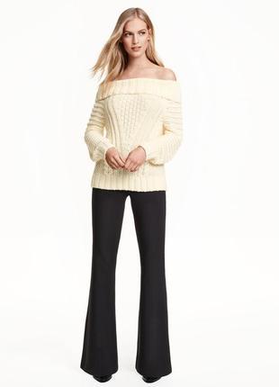 Женские классические брюки, flared pants, р 14, h&m