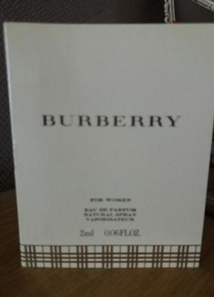 Пробник парфюм женский burberry