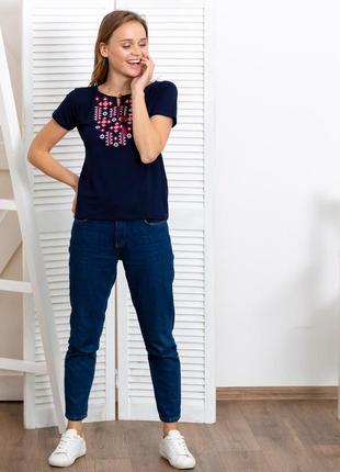 Женская футболка-вышиванка вышивка звездное сияние6 фото