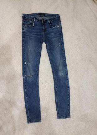 Джинсы zara  джинси скини skinny рваные порвані