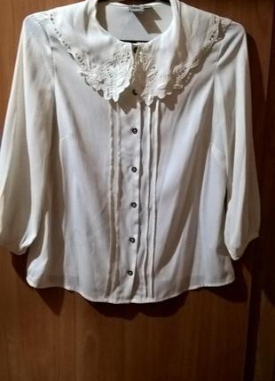 Винтажная блуза с воротом asos