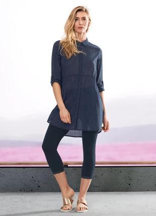 Стильная нежная хлопковая блуза-туника от tcm tchibo (чибо), германия, размер s-m
