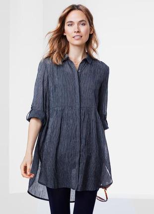 Стильная нежная хлопковая блуза-туника от tcm tchibo (чибо), германия, размер s-m2 фото