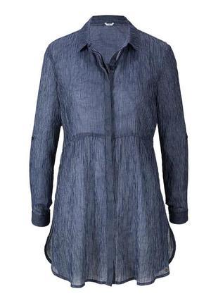 Стильная нежная хлопковая блуза-туника от tcm tchibo (чибо), германия, размер s-m5 фото