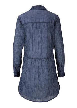 Стильная нежная хлопковая блуза-туника от tcm tchibo (чибо), германия, размер s-m3 фото