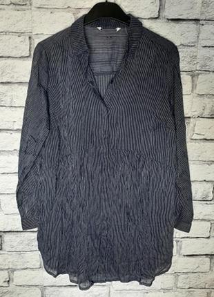 Стильная нежная хлопковая блуза-туника от tcm tchibo (чибо), германия, размер s-m6 фото