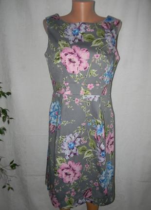 Распродажа!!!натуральное платье с нежным принтом amphora