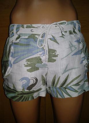 Льняные шорты лен пот-44 см